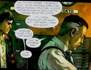 Clark Kent and Perry White discuss passive voice