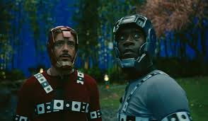 Iron Man and War Machine without the CGI