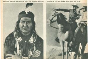 John Todd dressed as Tonto