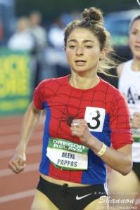 Alexi Pappas in Spider-Man singlet