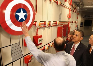 obama and c a shield