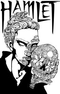 sugar_skull_hamlet_lineart_by_freakdearts-d5hyfl6