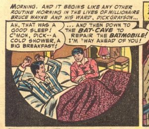 "One of the panels Wertham deems ""psychologically homosexual"" from the Golden Age."