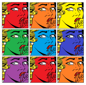 3x3 crying girl roygbiv